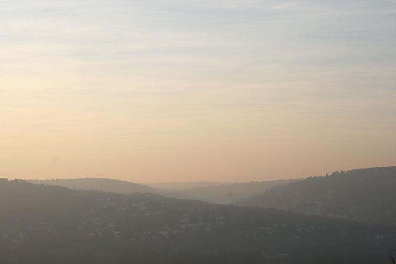Spaziergang in den Weinbergen von Würzburg