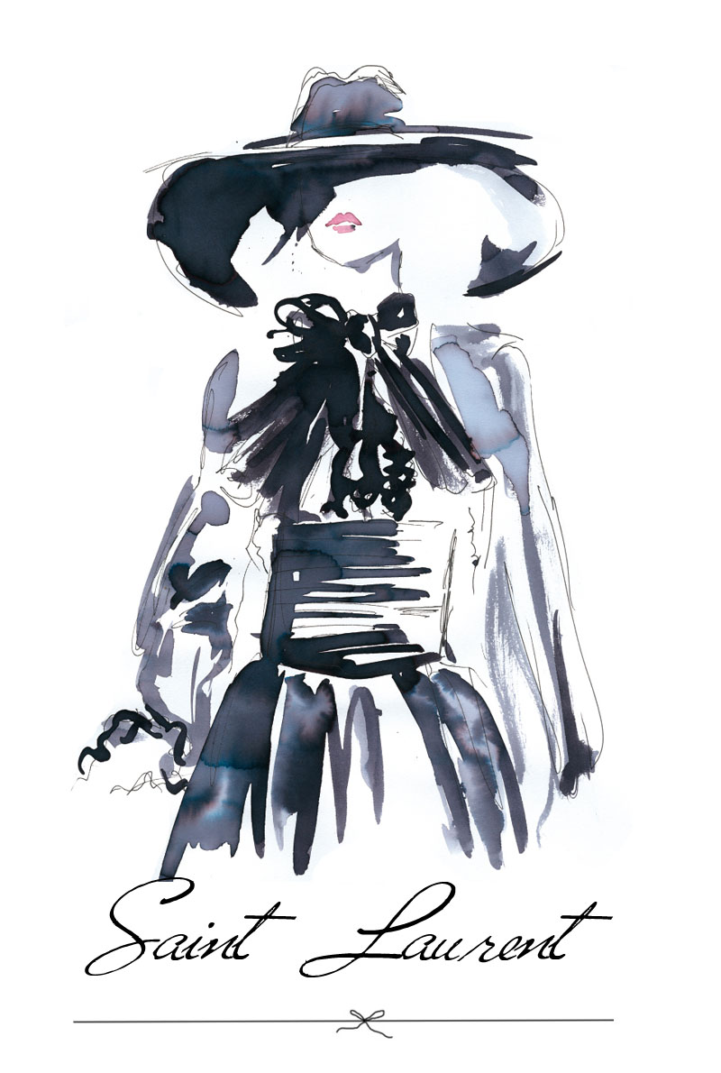 Iris Olschewski Illustration Saint Laurent