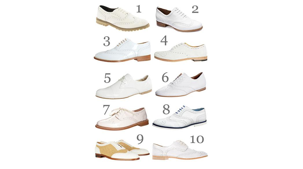 Weiße Schnürschuhe: Der Lady-Trend Oxford Shoes