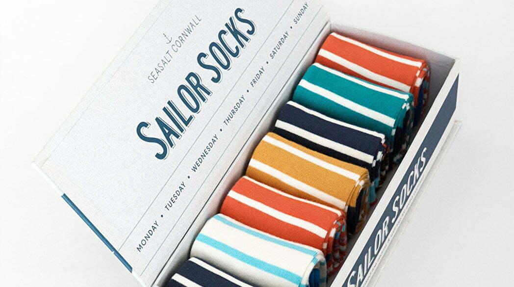 Freitagsfund: Segel-Socken von Sea Salt Cornwall