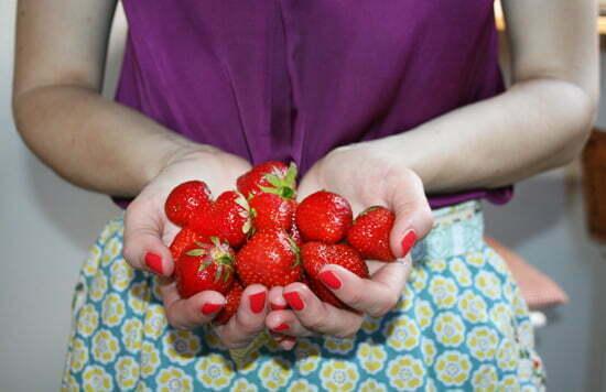 Zutaten für Sternchen-Melonensalat: Erdbeeren