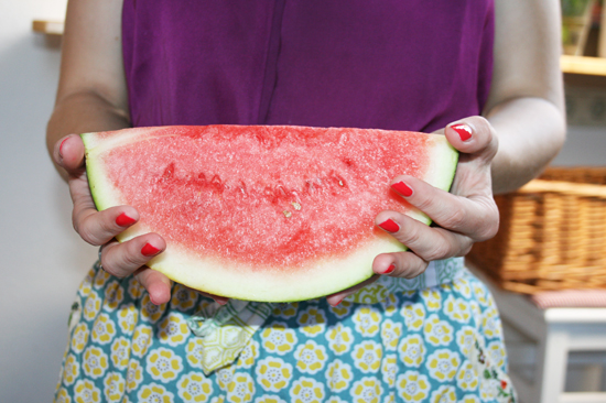 Alles was Ihr für den Sternchen-Melonensalat benötigt, ist eine Viertel Melone...