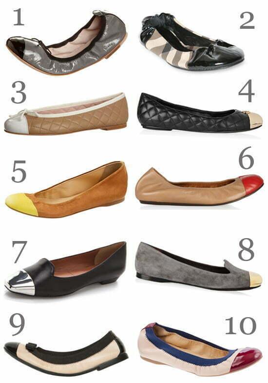 toe cap flats