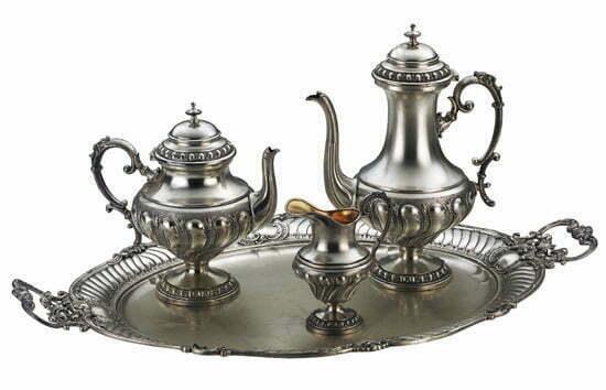 Kaffee Geschichte: Historisches Kaffee-Silberservice von WMF