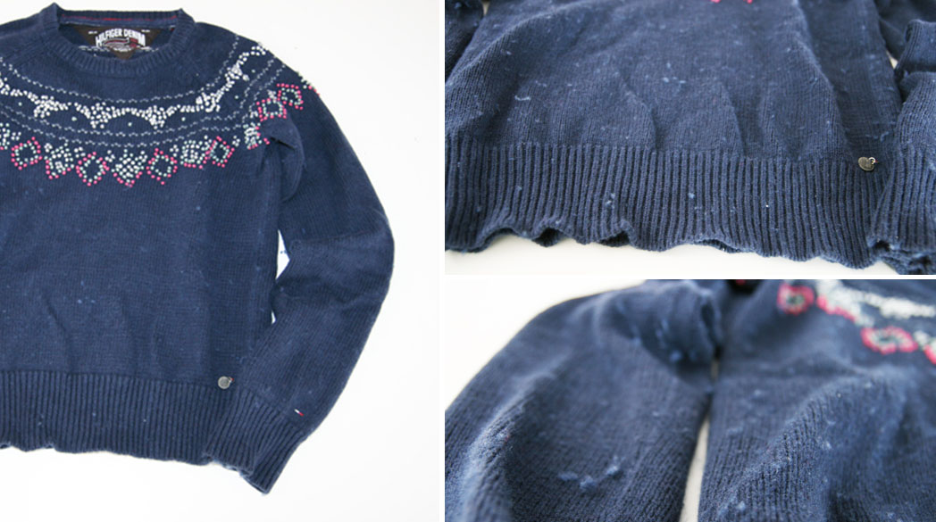 Bloß nicht kaufen: Knötchen-Pullover von Hilfiger