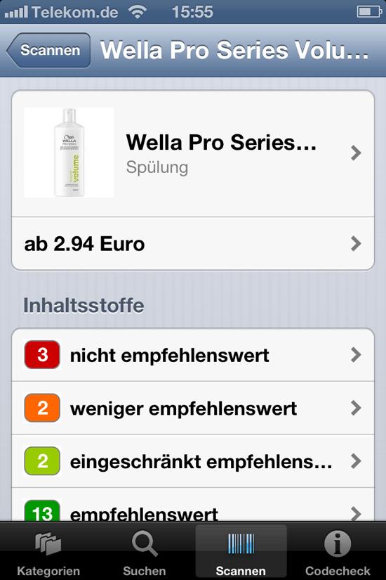 Kosmetik-Check mit der Code-Check-App