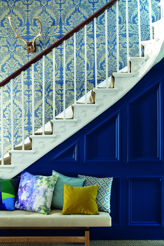 Traditionsfirma Little Greene: Klassisches Damast-Design