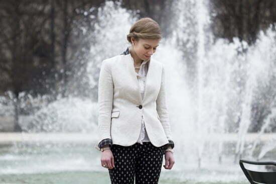 Daniela Uhrich im Preppy-Look