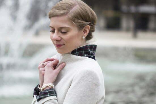Daniela Uhrich mit Jersey-Blazer