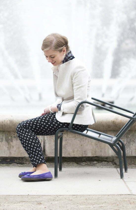 Daniela Uhrich vom Lady-Blog mit einer Anker-Hose