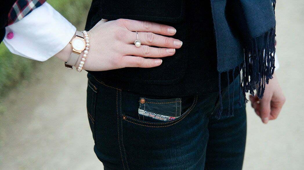 Outfitpost: Mit Blue Jeans im Residenzgarten