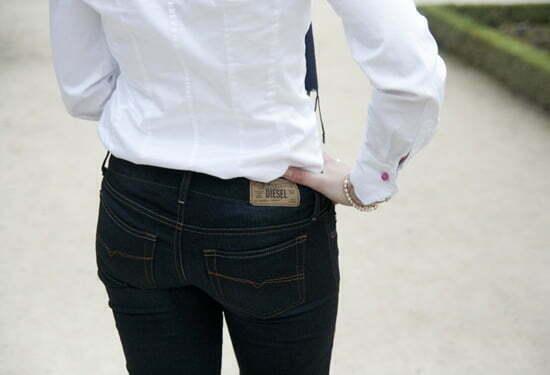 meine dunkelblaue Jeans von Diesel