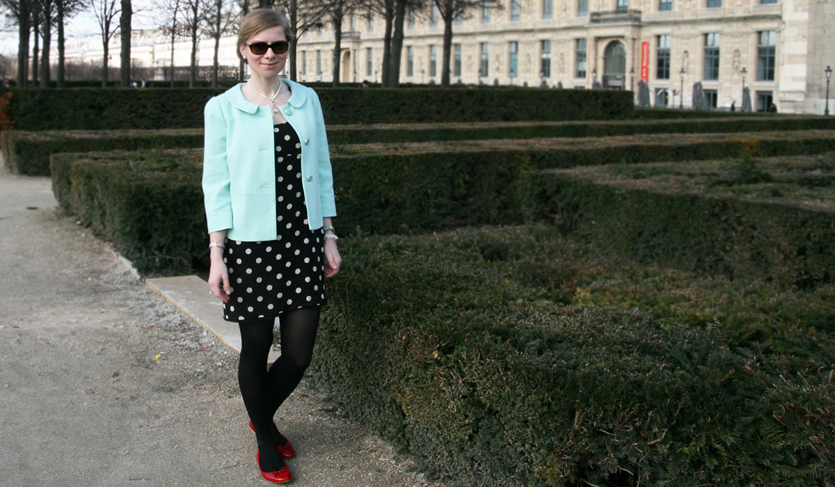 Outfitpost: Pünktchen & Mint in Paris