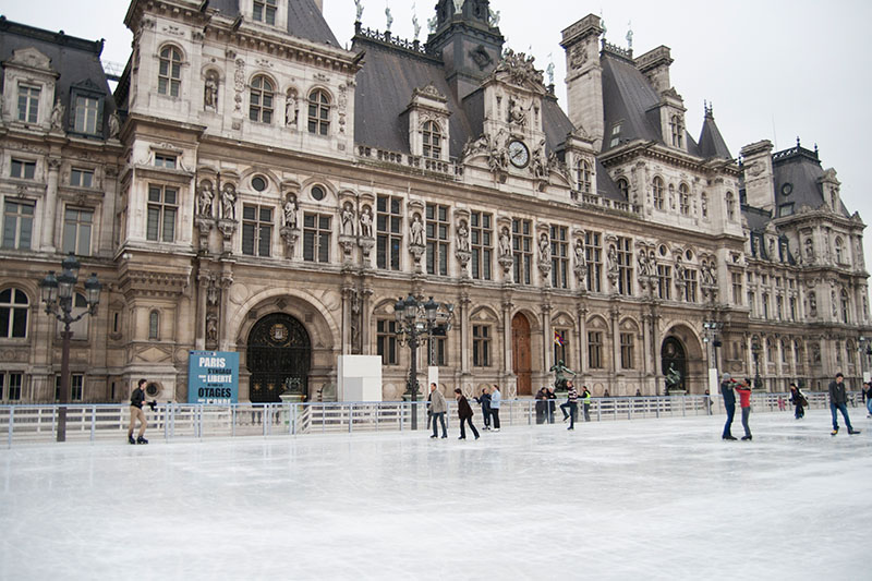 Paris-Tipps: Schlittschuhfahren vor dem Hôtel de Ville