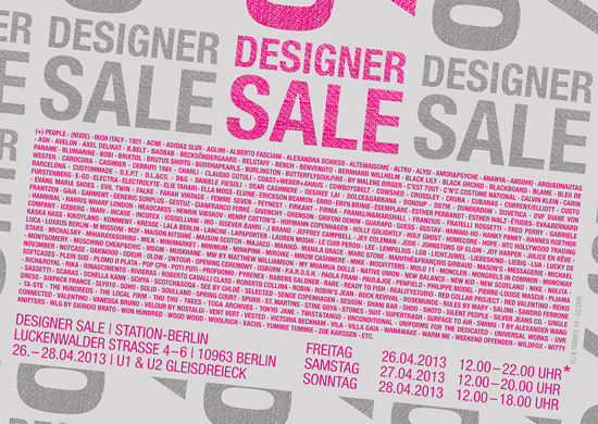 Designer Sale Station Berlin