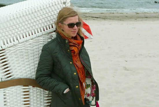 Daniela Uhrich mit einer Steppjacke von Joules