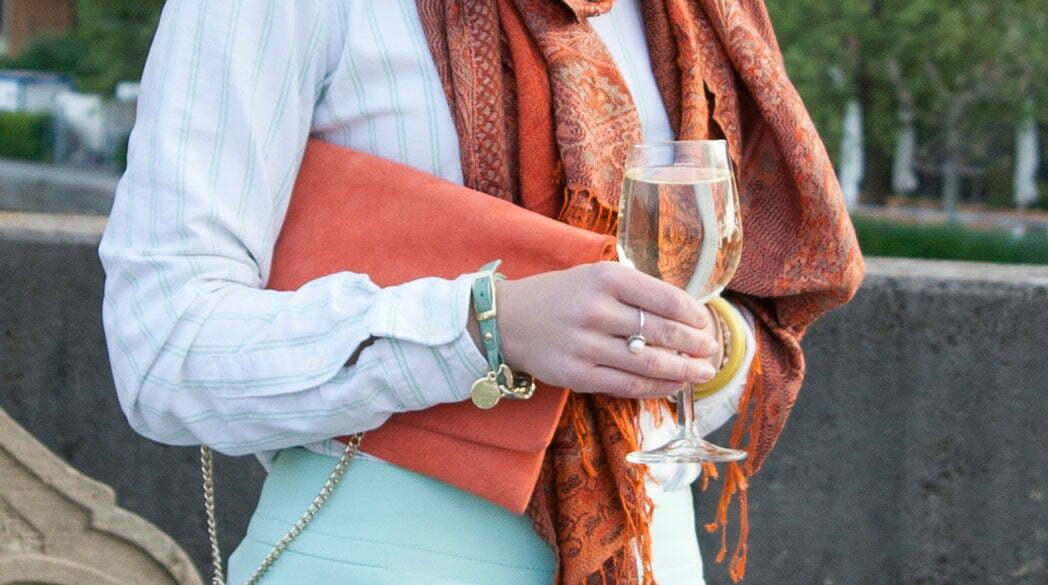 Outfitpost: Mein mint-orangefarbenes Outfit für Stylight