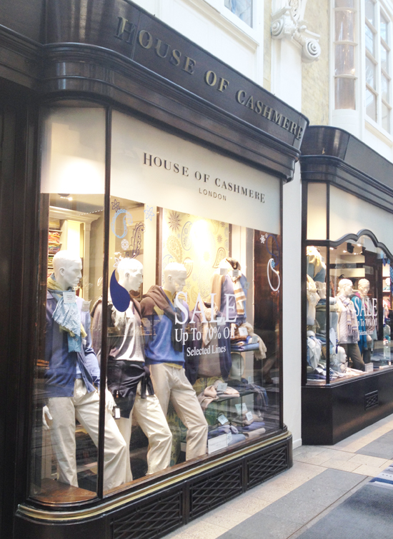 House of Cashmere auf der Burlington Arcade