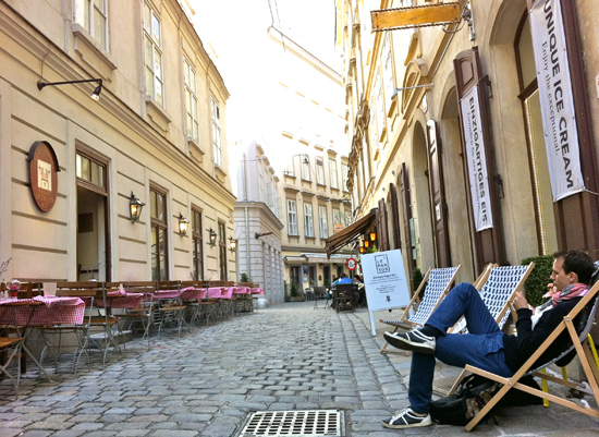 Eisladen Lepantos in Wien