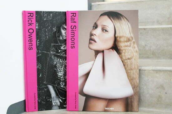 Bildbände über die Designer Raf Simons und Rick Owens aus dem Taschen Verlag