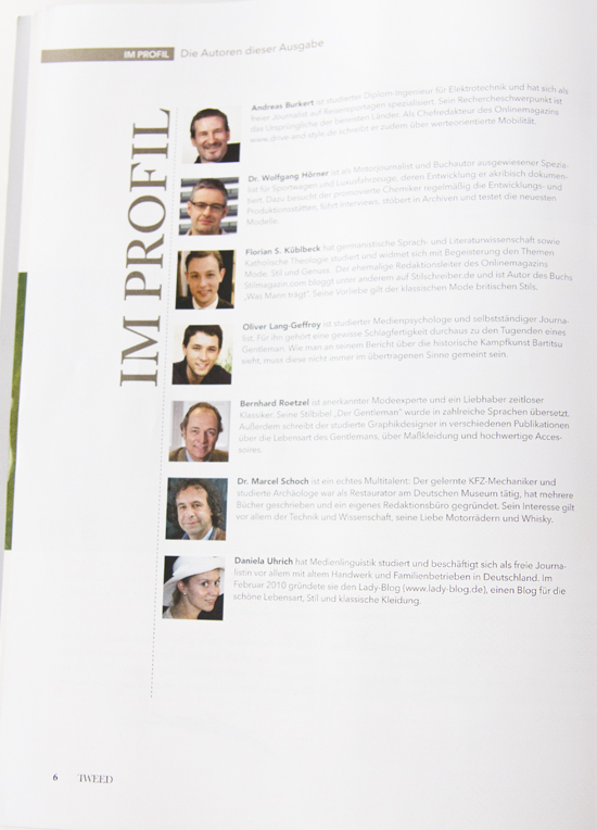 TWEED Magazin: Autoren