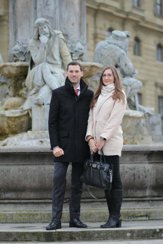 Phil und Conny vor der Würzburger Residenz