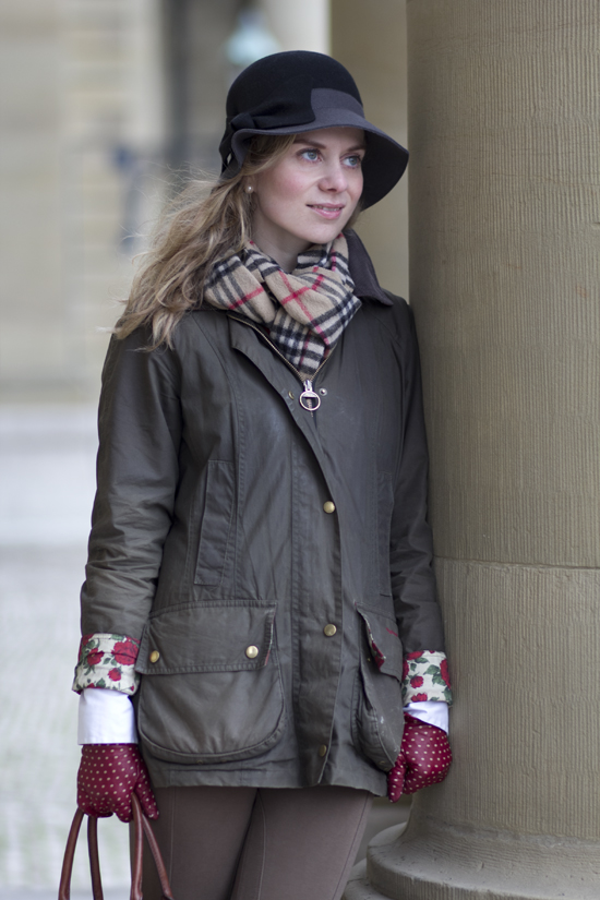 Lady-Blog Outfitpost: Barbour und Burberry