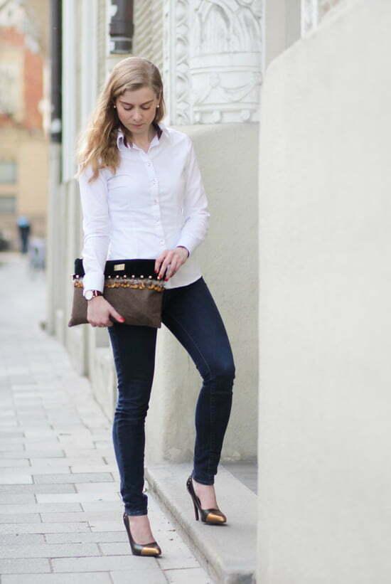 Lady-Blog Outfitpost: Daniela Uhrich mit Stilstück-Clutch und Jaimie Jacobs Pumps