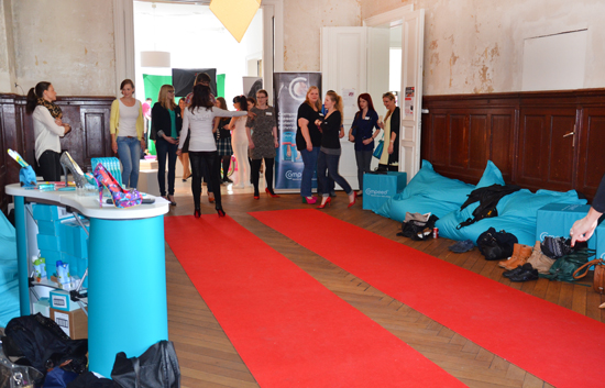 Catwalk-Training beim BeautybloggerCafé