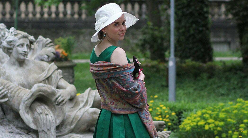 Outfitpost: Hochzeitsgast in Grün und Weiß