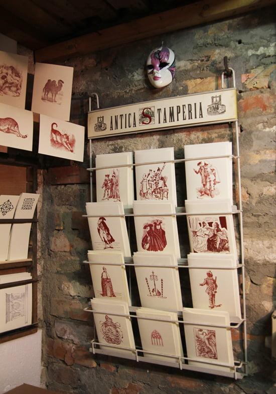 Druckerei von Gianni Basso in Venedig