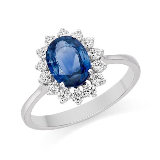 Saphir-Ring wie von Kate Middleton