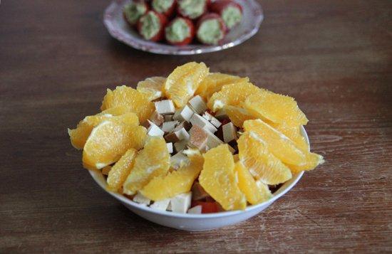 La Veganista: Orangen-Tofu-Salat