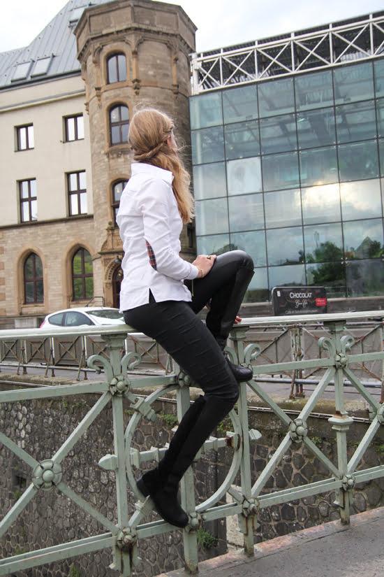 Equestrian-Style: Bluse mit Ellenbogenpatches