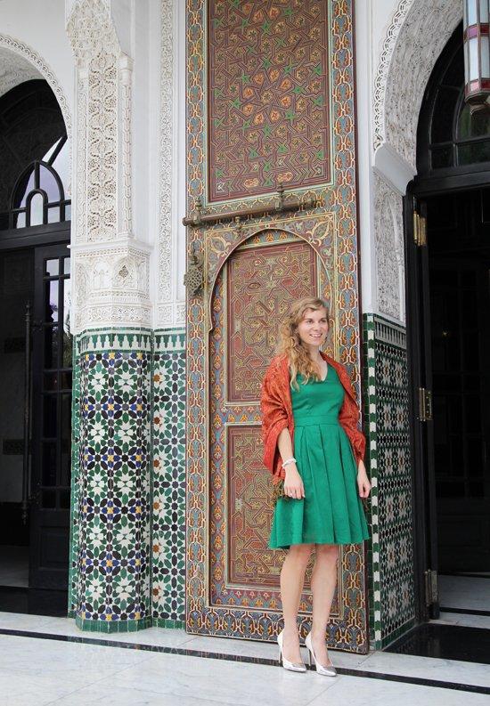 Bloggerin Daniela Uhrich vor dem La Mamounia