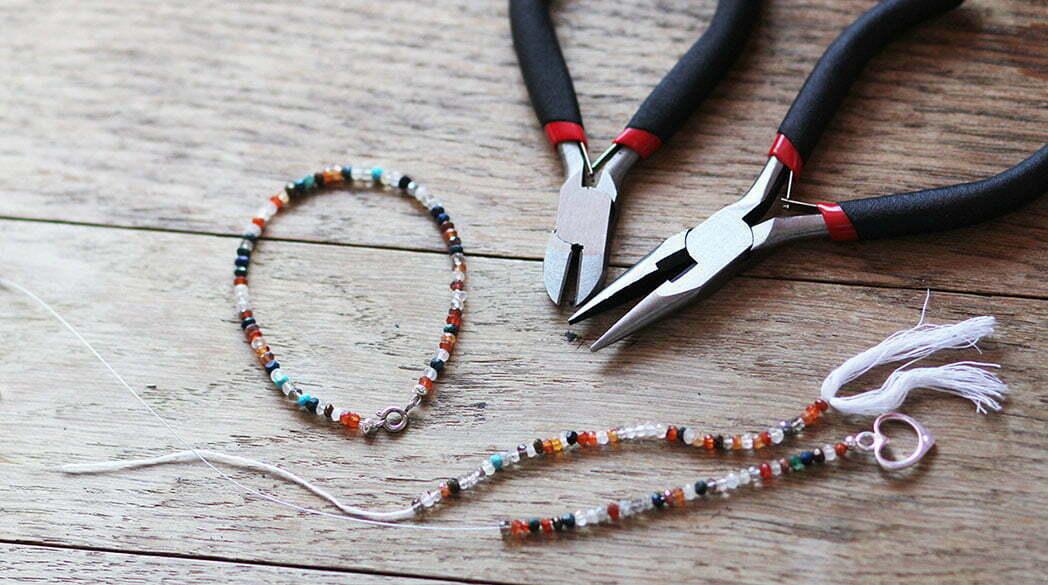 Mutter-Tochter-Armband mit Halbedelsteinen