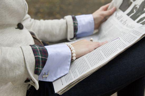 Bluse mit Manschettenknöpfen: Der Business-Look