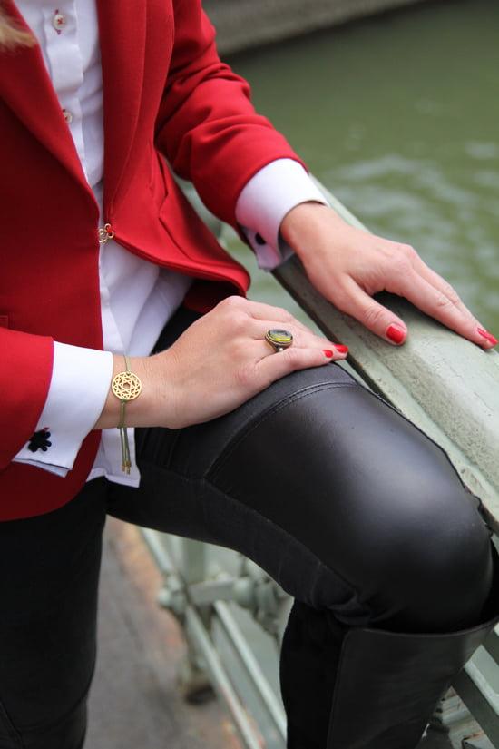 Bluse mit Manschettenknöpfen: Der britische Look