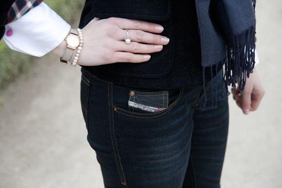 Bluse mit Manschettenknöpfen: Der sportlich-legere Look