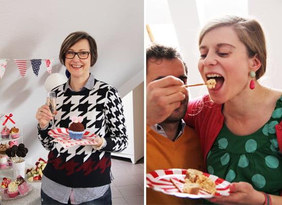 Sybille Hilgert und Daniela Uhrich vom Lady-Blog bei der Baby-Party