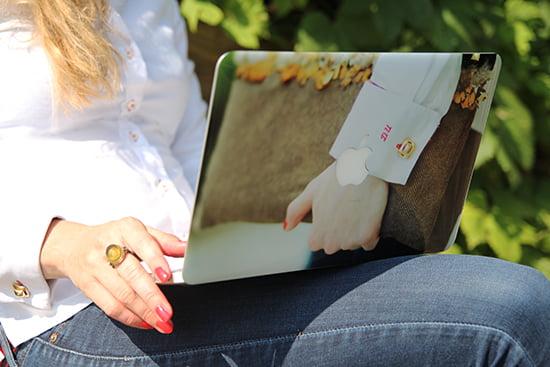 Klebefolie für das MacBook von DeinDesign