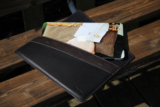 Laptop-Lederhülle von StilGut
