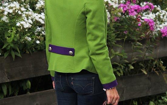 grasgrüner Janker von Daniela Uhrich (Lady-Blog)