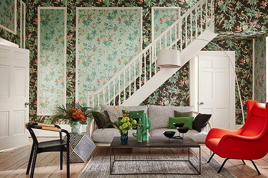 inspirationspost tapeten von little greene lady blog. Black Bedroom Furniture Sets. Home Design Ideas