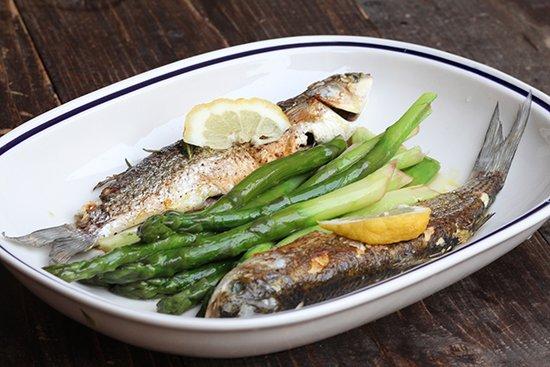 mediterrane Diät: Fisch und Gemüse
