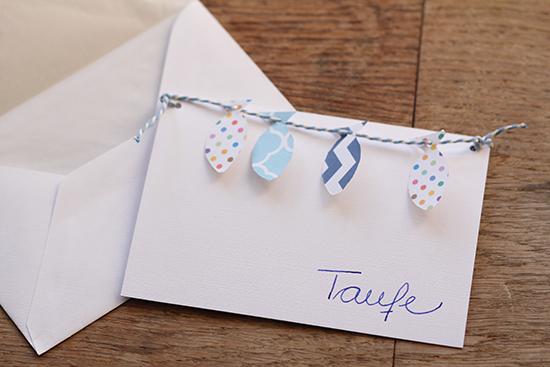 diy: einladungskarten für die taufe | lady-blog, Einladungsentwurf