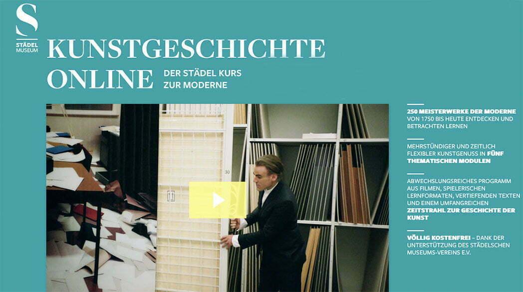 Kunstgeschichte Online: Städel-Kurs zur Moderne