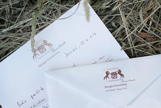 Parfum von Susanne Michalke: Handgeschriebener Brief