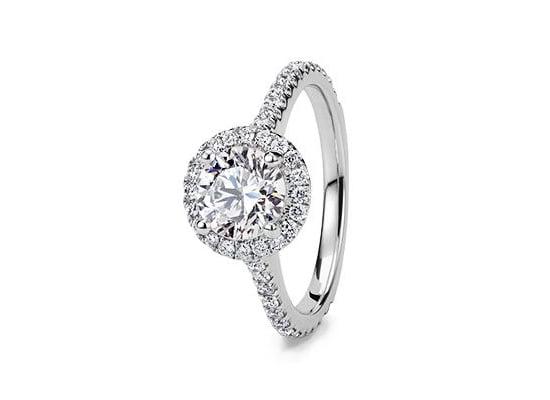 Geschichte des Verlobungsringes: Halo-Ringe