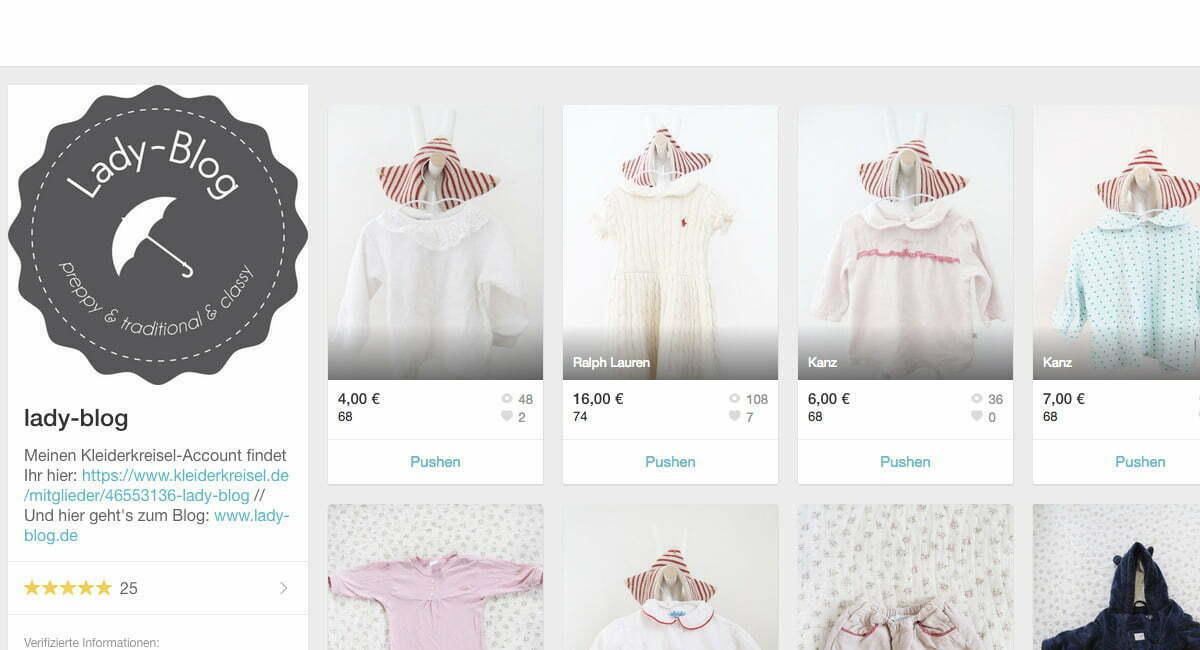 Preloved Kinderkleidung: Der Lady-Blog bei Mamikreisel
